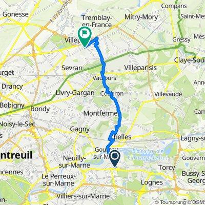 Moderate route in Villepinte