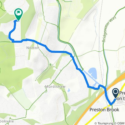 Chester Road, Warrington to 6 Copperwood, Runcorn