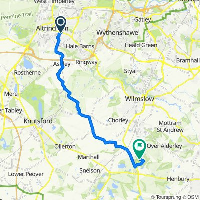 Route from 2 Queen's Road, Altrincham