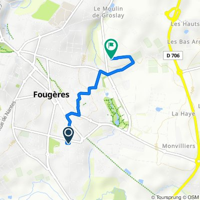 Moderate route in Fougères