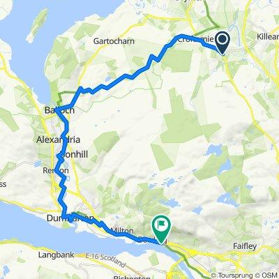 A809, Glasgow to 7–9 Dumbarton Road, Glasgow