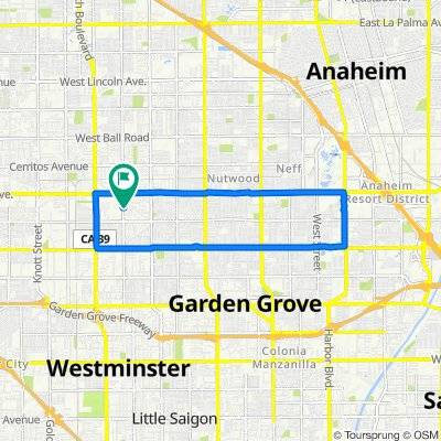 Moderate route in Garden Grove