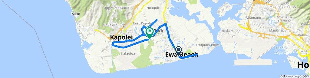 Aikanaka Road 91-829, Ewa Beach to Renton Road 91-1009, Ewa Beach