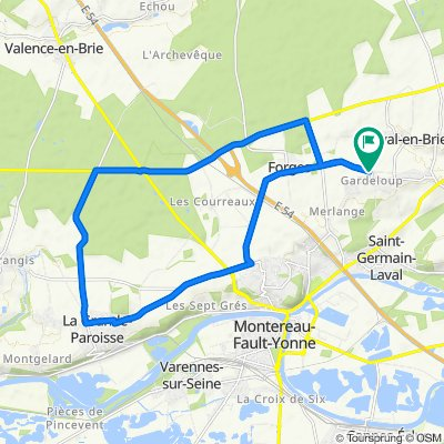 Moderate route in Saint-Germain-Laval