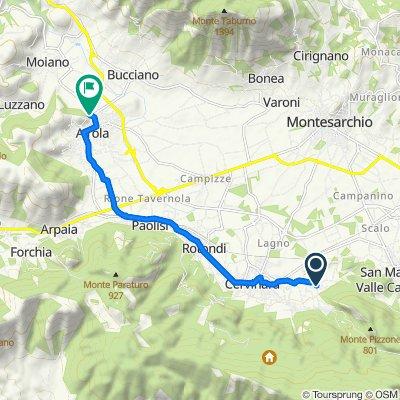 Da Via Campo di Castello 28, Cervinara a Via dei Fiori 30, Airola