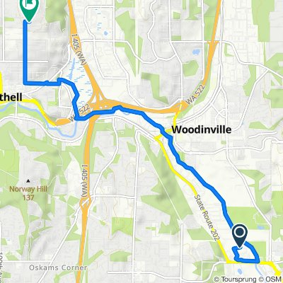 14066 NE 145th St, Woodinville to 10419 NE 198th St, Bothell