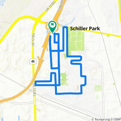 Relaxed route in Schiller Park