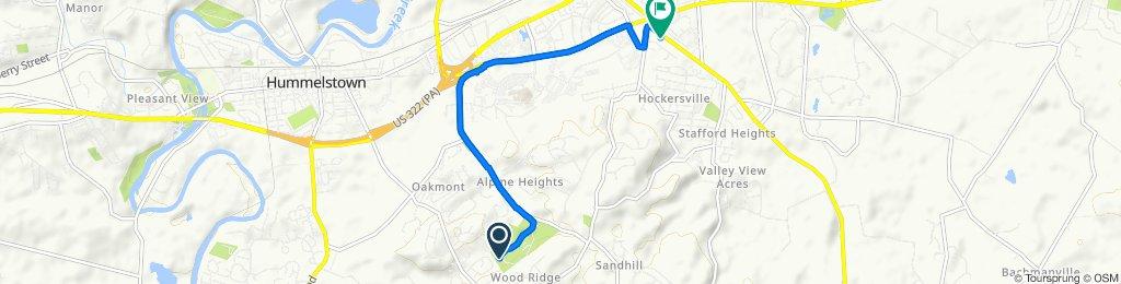 781 Bullfrog Valley Rd, Hummelstown to 726 Fishburn Rd, Hershey