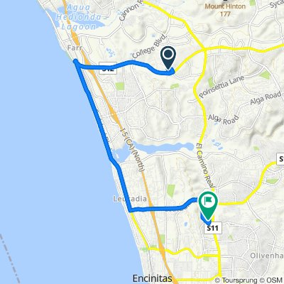 High-speed route in Encinitas