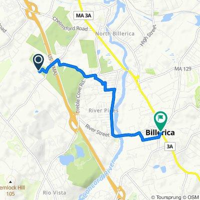 Route to 430 Boston Rd, Billerica