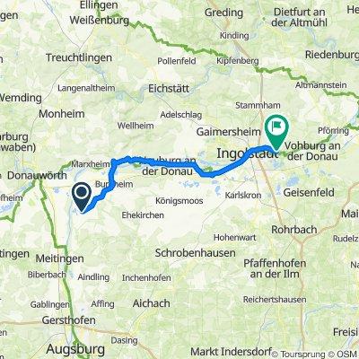 2. Etappe Donautal bis Ingolstadt