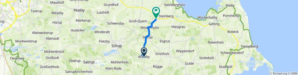 Langsame Fahrt in Steinbergkirche