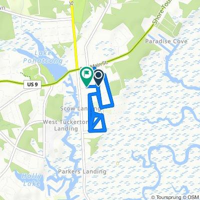 Moderate route in Tuckerton
