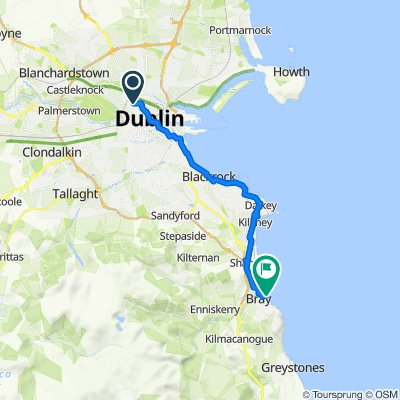 Cabra to Bray by the sea