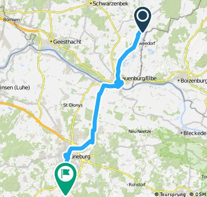 Über Lauenburg nach Lüneburg