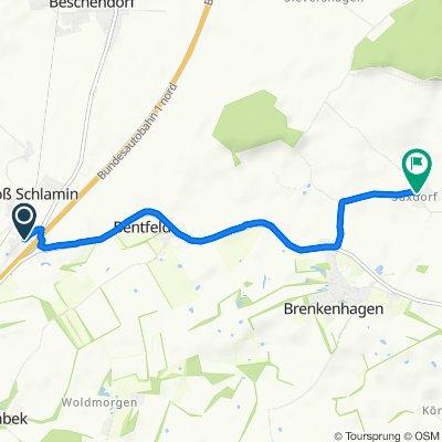 Moderate Route in Schashagen
