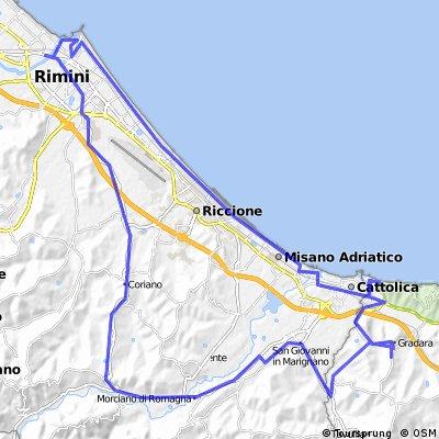 Gabicce-Morciano-Croce-Rimini-Gabicce