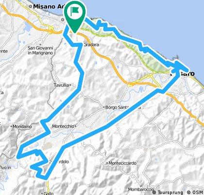 Gabicce-Fasana-Caldazzo-Monte Colbordolo-Talacchio-Pontevecchio-Gabicc-
