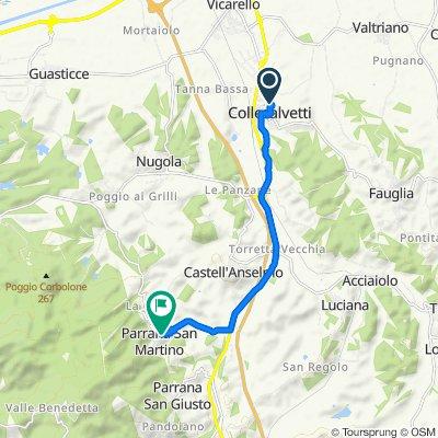 Da Via Nino Bixio 49, Collesalvetti a Via Parrana San Martino 12C