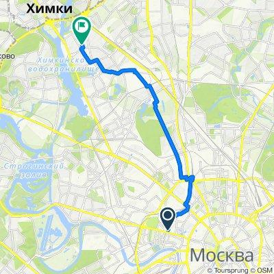От Ст. м. Улица 1905 Года, Москва до Левобережная улица 4 корпус 1, Москва