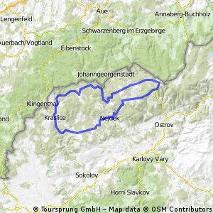 Krušné hory pro zdatnější cyklisty