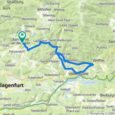 RR-Flach: St.Veit-Brückl-Haimburg-Völkermarkt-St.GeorgenWeinberg-Brückl-St.Veit