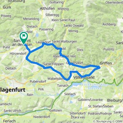 RR-Flach: St.Veit-Brückl-Haimburg-Völkermarkt-St.MichaelGurk-Pischeldorf-St.MichaelZollfeld-St.Veit