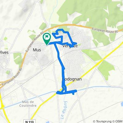 Moderate route in Vergèze