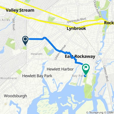 386 Cochran Pl, Valley Stream to 114–128 First Ave, East Rockaway