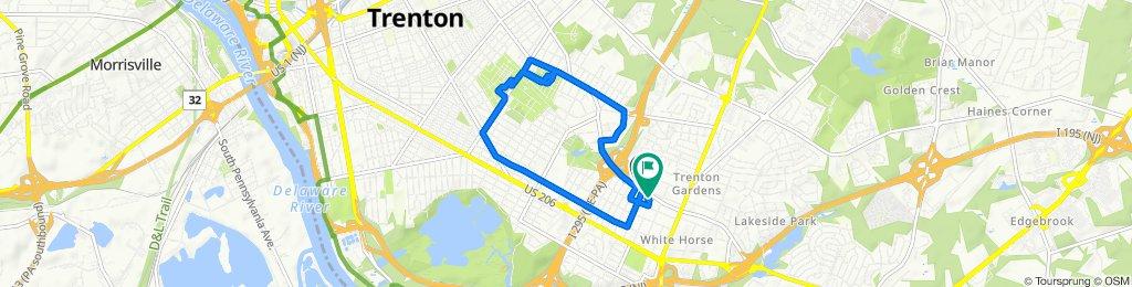 345–399 Woodside Ave, Trenton to 1733 Arena Dr, Trenton