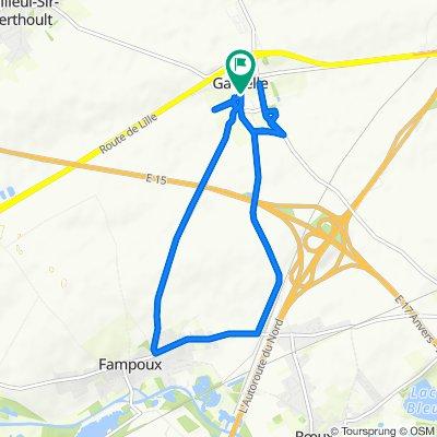 Restful route in Gavrelle