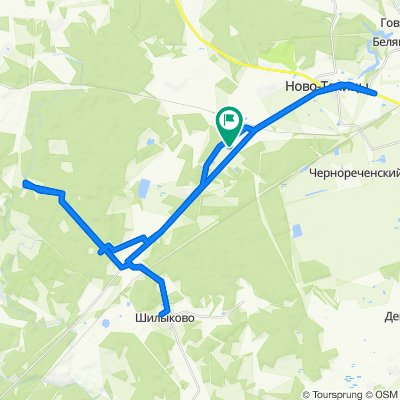 Moderate route in Новоталицкое