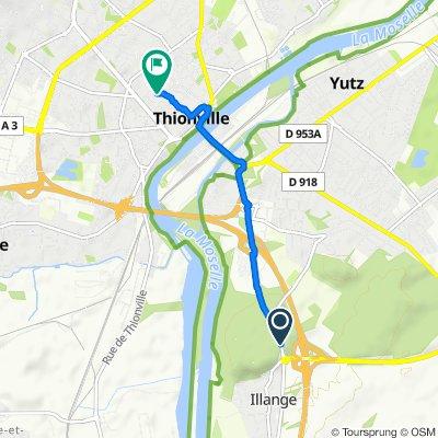 Itinéraire modéré en Thionville