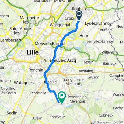 De Allée Van Gogh 18, Roubaix à Rue du Maréchal Foch 3, Fretin
