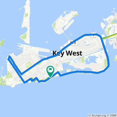 Relaxed route in Key West