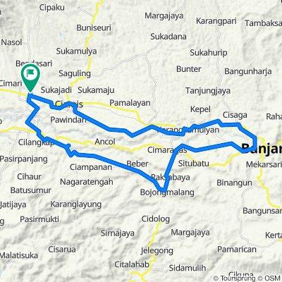 Jalan Kapten Heru Suryadi 62, Kecamatan Ciamis to Jalan Kapten Heru Suryadi 54, Kecamatan Ciamis