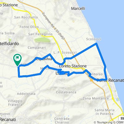 Da Via Jesina 4, Castelfidardo a Via Jesina 4, Castelfidardo