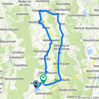 Günz abwärts Rundreise 44km