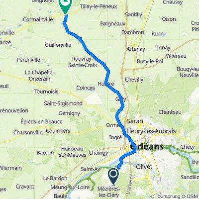 De 661 Rue du Buisson, Mézières-lez-Cléry à Rue Texier-Gallas, Orgères-en-Beauce