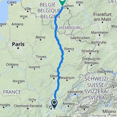 Lyon to Maastricht