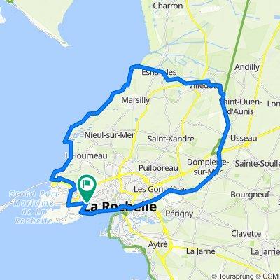 La Rochelle côte nord retour Canal de Marans
