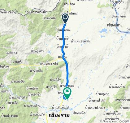 Route from Thanon Phahon Yothin, Tambon Huai Khrai