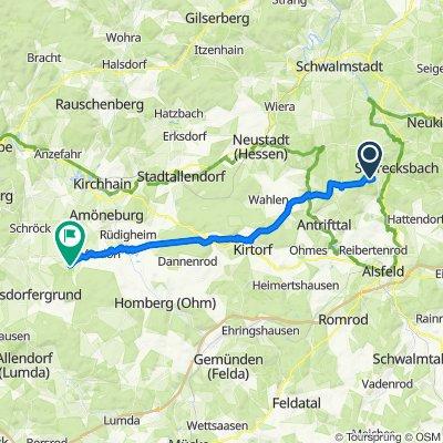 Hohlweg 4, Schrecksbach nach Schloßpark 1, Ebsdorfergrund