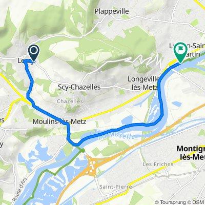 Restful route in Norroy-le-Veneur