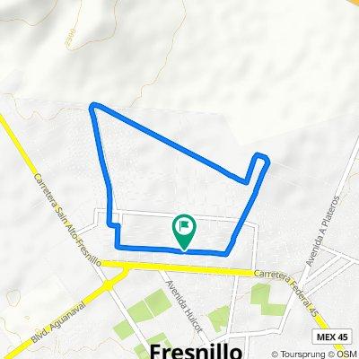 De Calle Sierra de Valdecañas 209, Fresnillo a Calle Sierra de Valdecañas 209, Fresnillo