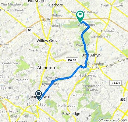 501 Washington Ln, Jenkintown to 3500 Masons Mill Rd, Huntingdon Valley