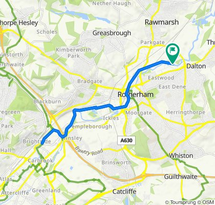 Rotherham to Meadowhall Canal