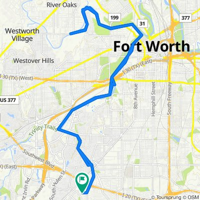 Blistering ride in Fort Worth