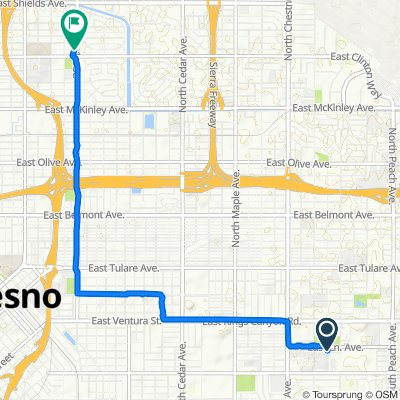 Relaxed route in Fresno