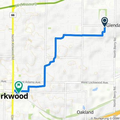 782 Elmwood Ave, Glendale to 150 E Argonne Dr, Kirkwood
